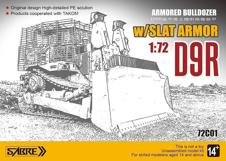 D9R Armored Bulldozer w/ Slat Armor 1/72